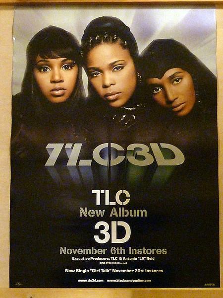 TLC 3D非売品告知ポスター未使用長期保管品B2サイズ515×728 ミリ