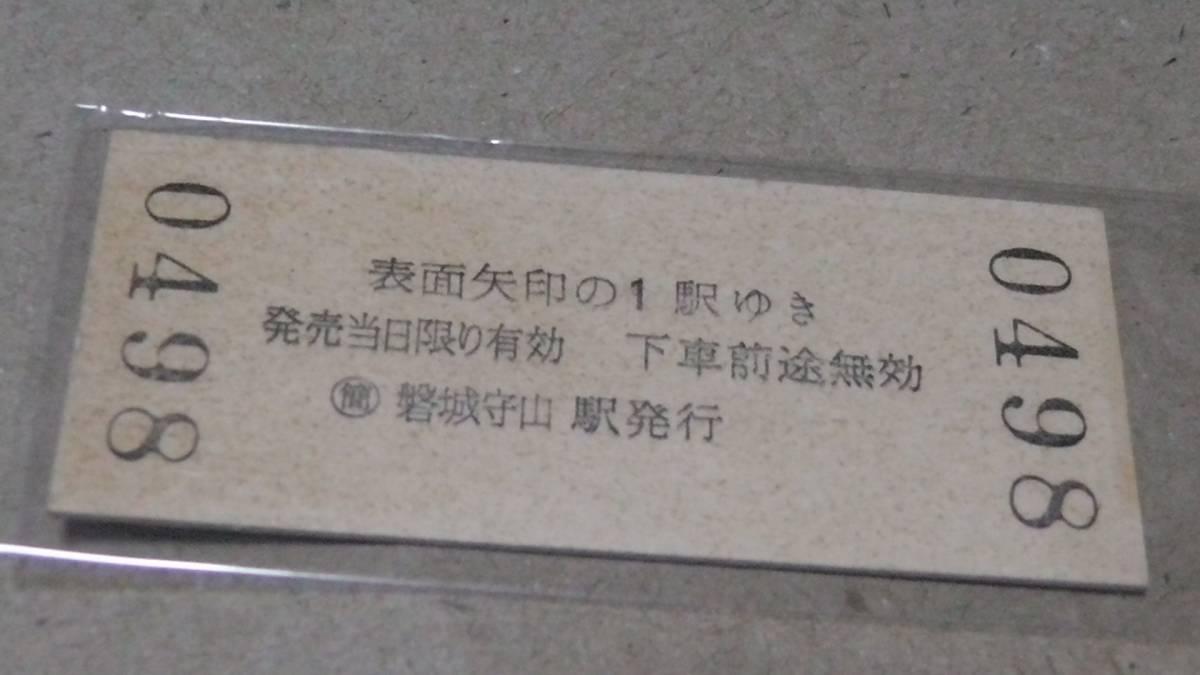 ■JR東 B型硬券【水郡線】 谷田川←磐城守山→安積永盛 小3-1.12_画像を良く、ご覧下さい。
