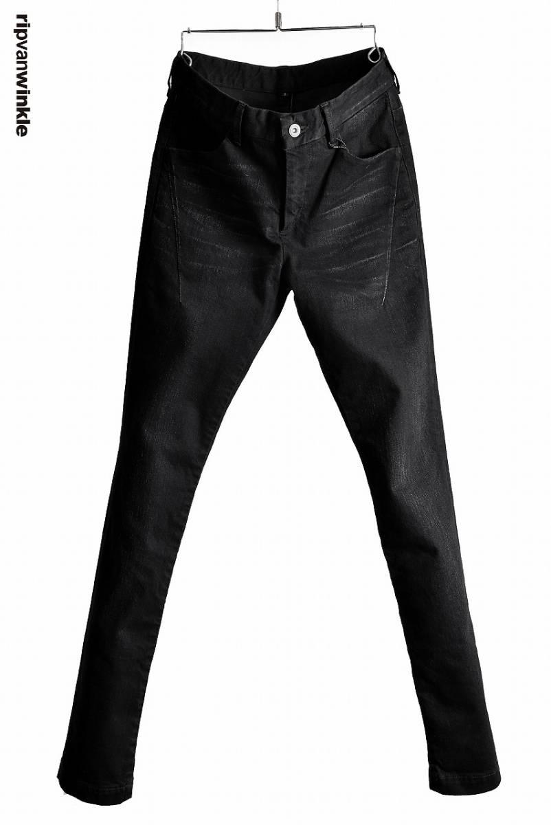 【新品未使用 定価36,720円】 ripvanwinkle RIDERS SHIRT リップヴァンウィンクル デニム パンツ 黒 ATTACHMENT BACKLASH 3