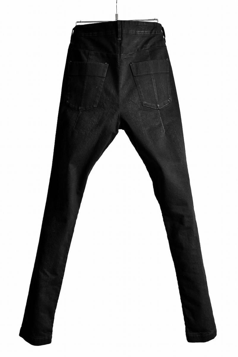 【新品未使用 定価36,720円】 ripvanwinkle RIDERS SHIRT リップヴァンウィンクル デニム パンツ 黒 ATTACHMENT BACKLASH 3_画像2