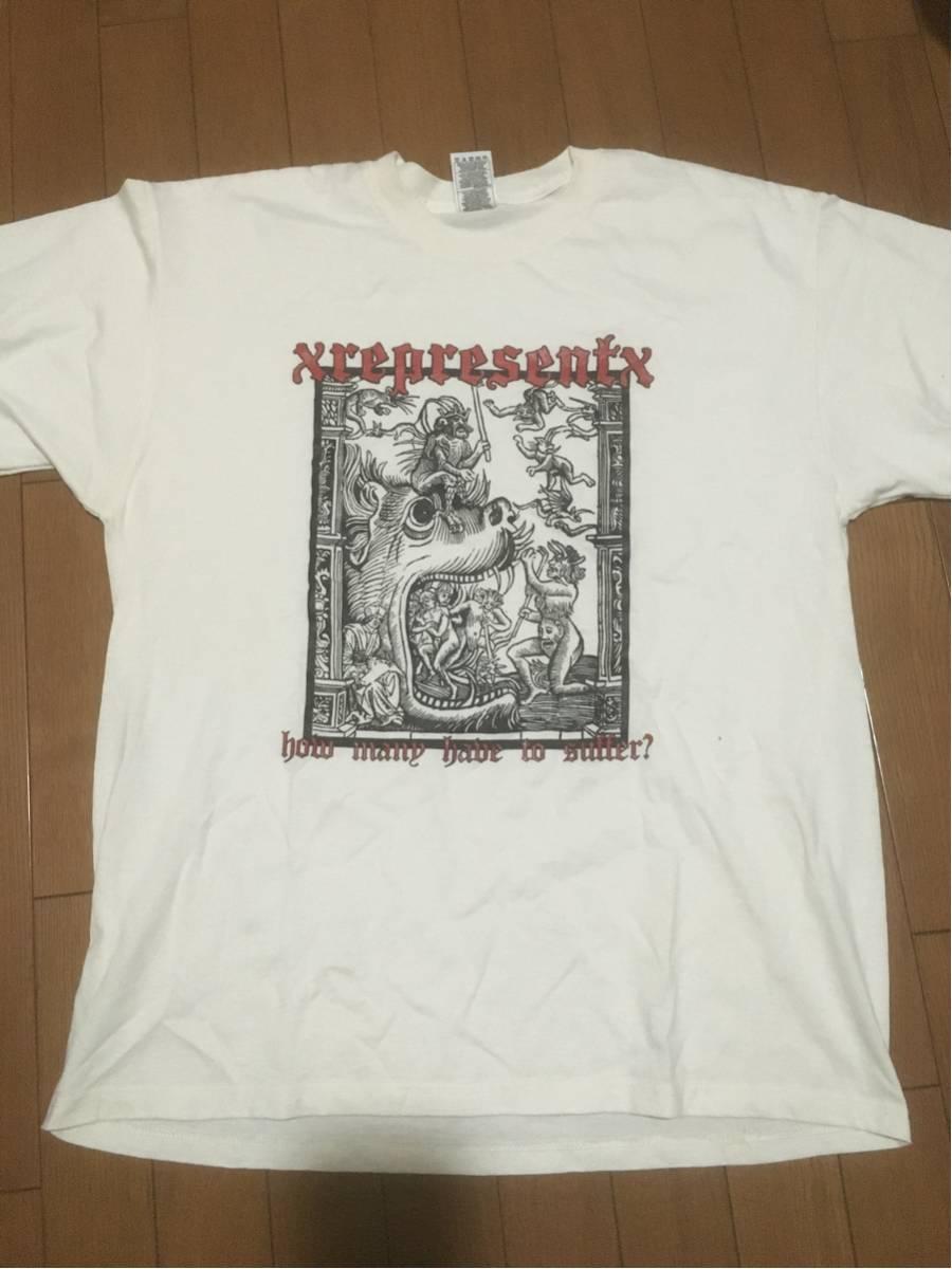 レア REPRESENT Tシャツ XL NYHC PAHC Madball BULLDOZE IRATE SUBZERO HATEBREED ALL OUT WAR MERAUDER BEATDOWN