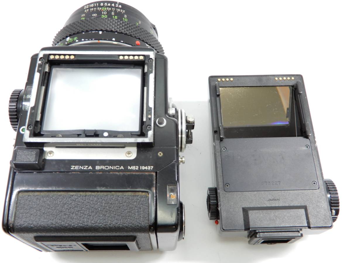 ZENZA BRONICA 中判カメラ ETR ゼンザ ブロニカ レンズ ZENZANON MC 1:2.8 f=75mm_画像8