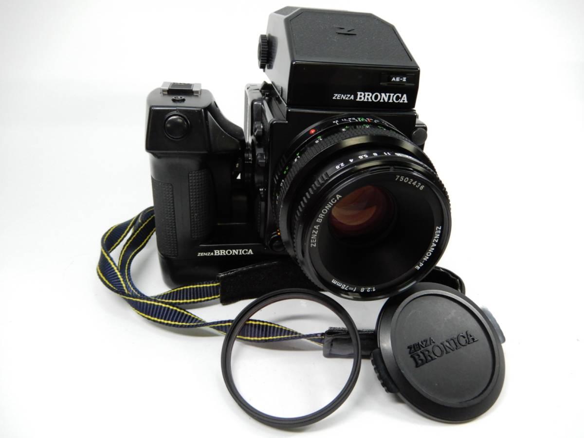 ZENZ BRONICA ETR Si 中判カメラ ゼンザ ブロニカ レンズ3点 ZENZANON-PE 1:2.8 f=75mm_画像2