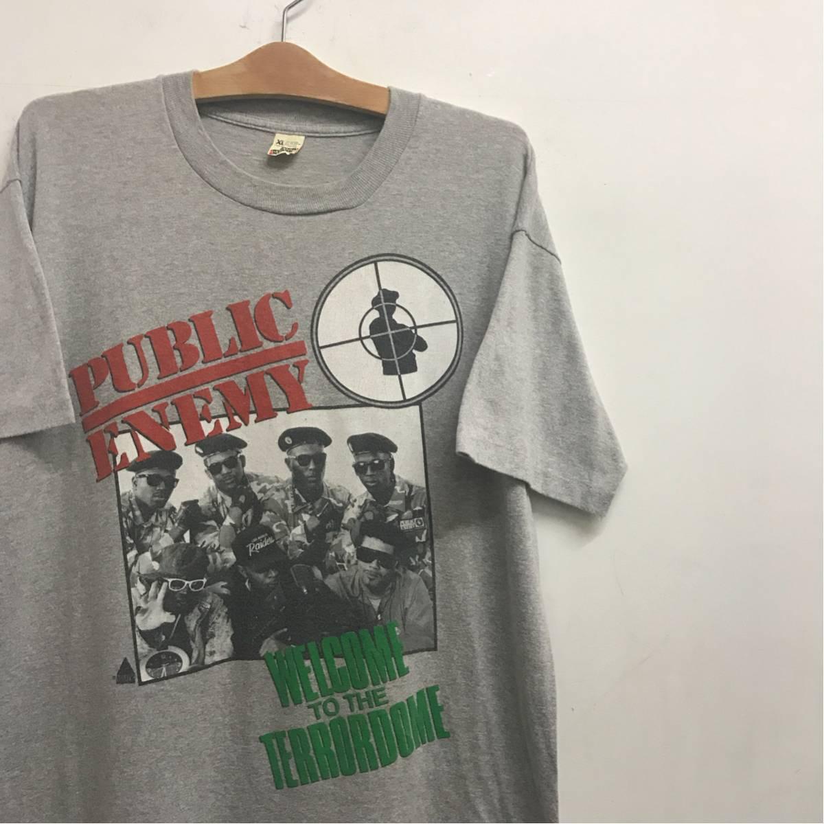 90s PUBLIC ENEMY Tシャツ ビンテージ パブリックエネミー supreme raptees hip hop ラップT
