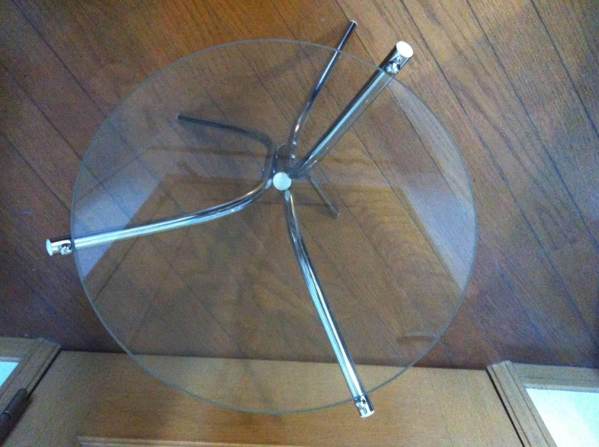 ☆☆ 送料無料 希少 ガラス 天板 小型 サイドテーブル テーブル_画像6
