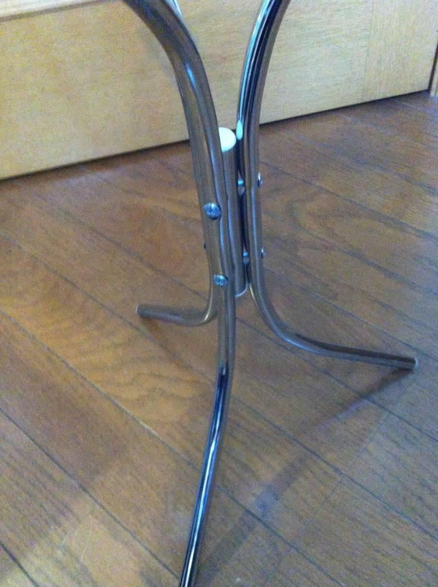☆☆ 送料無料 希少 ガラス 天板 小型 サイドテーブル テーブル_画像8