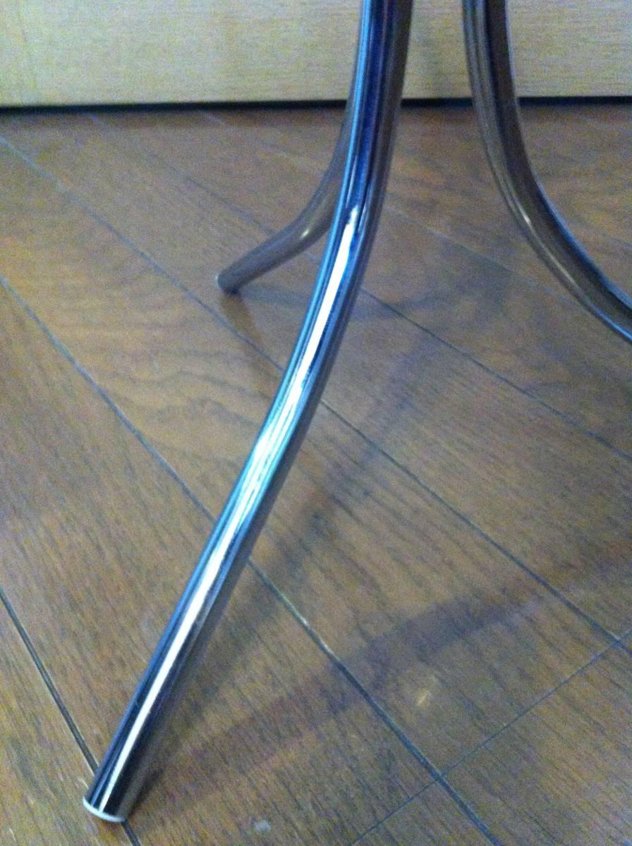 ☆☆ 送料無料 希少 ガラス 天板 小型 サイドテーブル テーブル_画像7