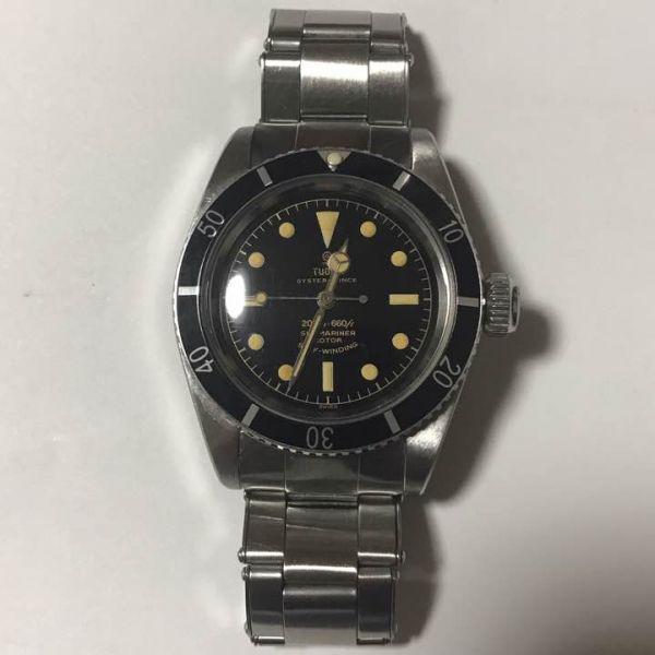 希少 チュードル サブマリーナ ref.7924 アンティーク ビッグクラウン 腕時計