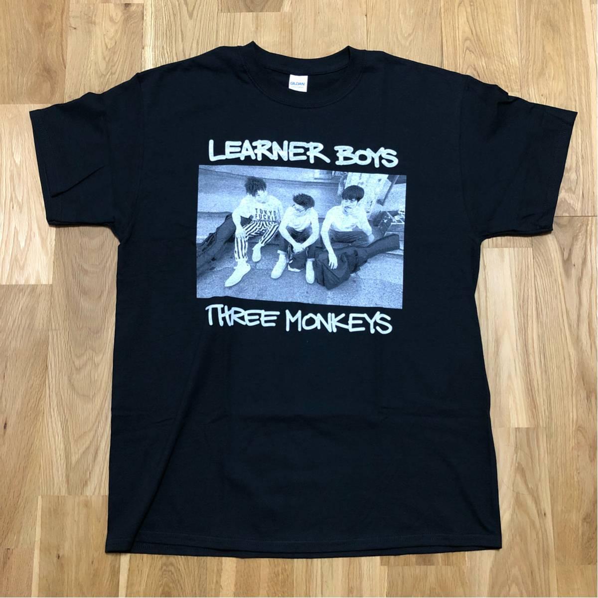 【新品】 Learners ( ラーナーズ ) 三匹の猿 Learner Boy TEE Lサイズ / koncos cubismo 紗羅マリー 横山健 Noshow
