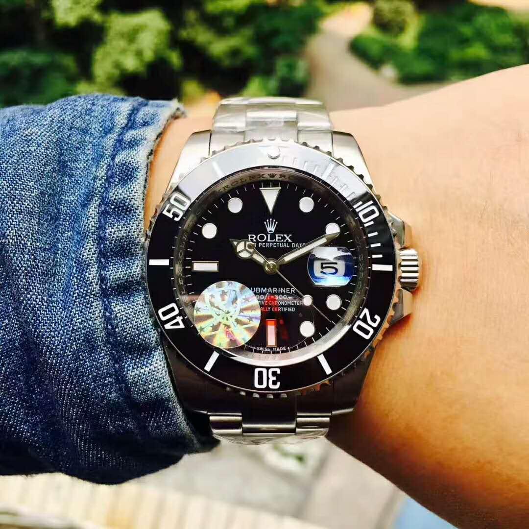 Ro-lex 時計 メンズロレックス 新品 デイト 時計 メンズ ウォッチ オートマ 自動巻 腕時計 黒文字盤 ネイビー ステンレス_画像5