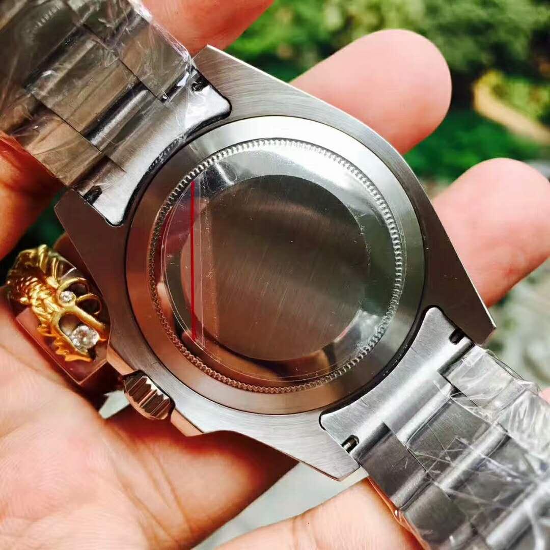 Ro-lex 時計 メンズロレックス 新品 デイト 時計 メンズ ウォッチ オートマ 自動巻 腕時計 黒文字盤 ネイビー ステンレス_画像3