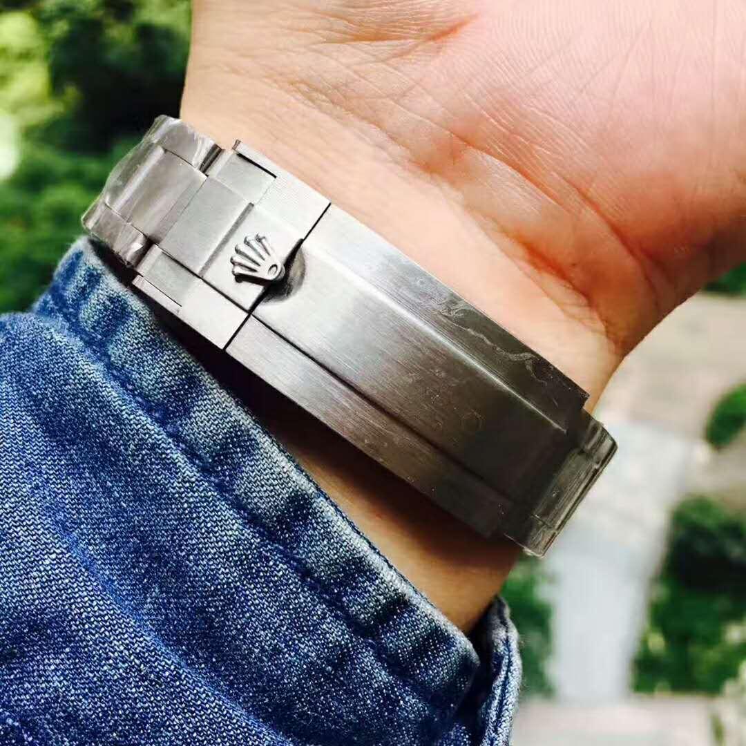 Ro-lex 時計 メンズロレックス 新品 デイト 時計 メンズ ウォッチ オートマ 自動巻 腕時計 黒文字盤 ネイビー ステンレス_画像4