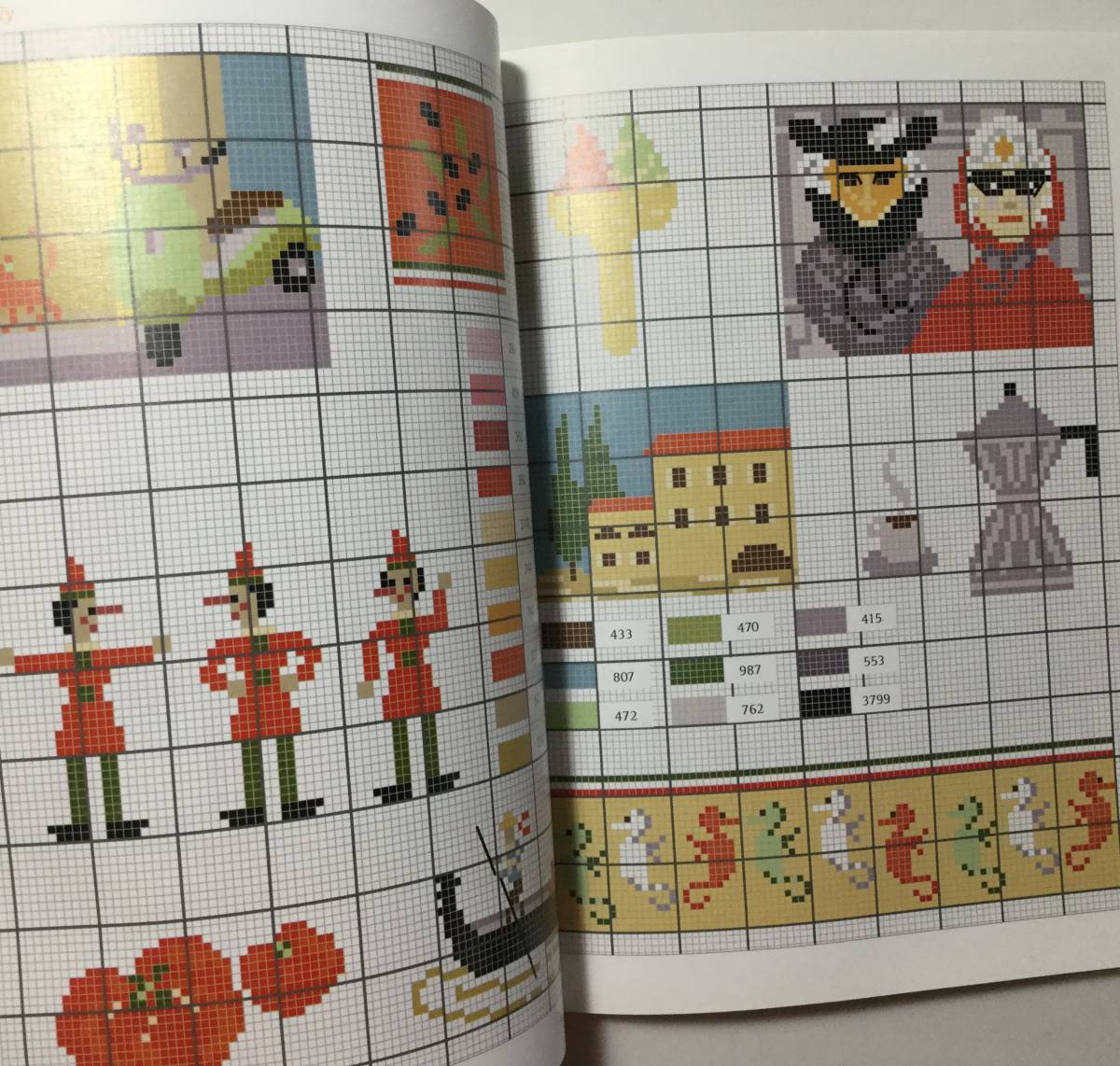 ■ARTBOOK_OUTLET■ 1-059 ★ 手芸本 新品 フランス 刺繍 クロスステッチ CROSS STITCH 図案 SPECIAL EDITION AROUND THE WORLD 希少本_画像8