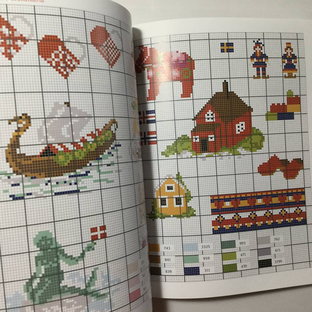 ■ARTBOOK_OUTLET■ 1-059 ★ 手芸本 新品 フランス 刺繍 クロスステッチ CROSS STITCH 図案 SPECIAL EDITION AROUND THE WORLD 希少本_画像6