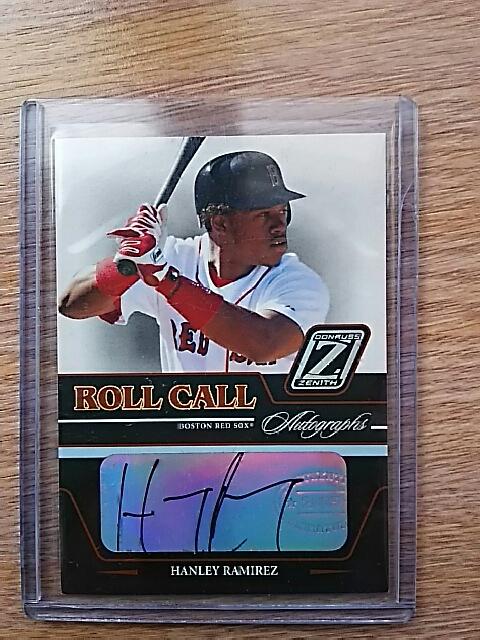 MLB ボストン・レッドソックス時代 ハンリー・ラミレス(ナ・リーグ 2009年 首位打者)直筆サイン入りカード グッズの画像