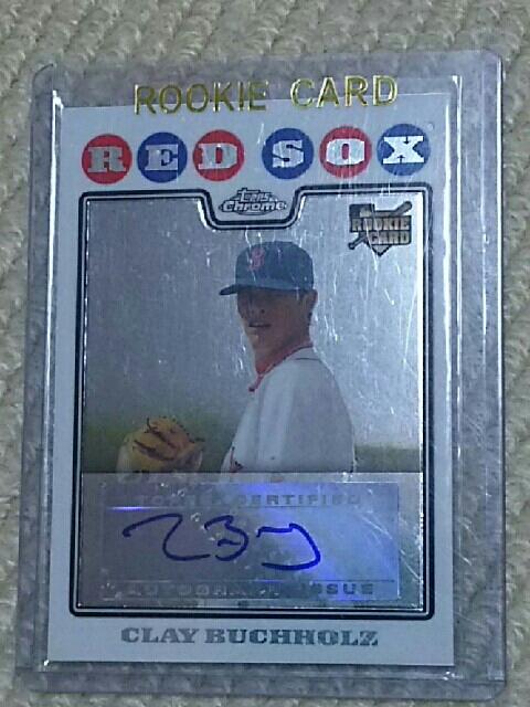 MLB クレイ・バックホルツ (ボストン・レッドソックス時代)  直筆サイン入りルーキーカード グッズの画像