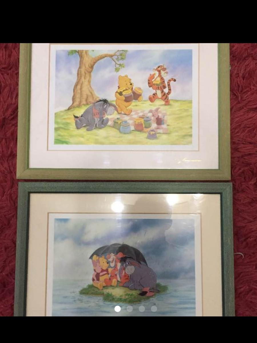 ディズニー絵画 プーさん2個セット 美品! ディズニーグッズの画像