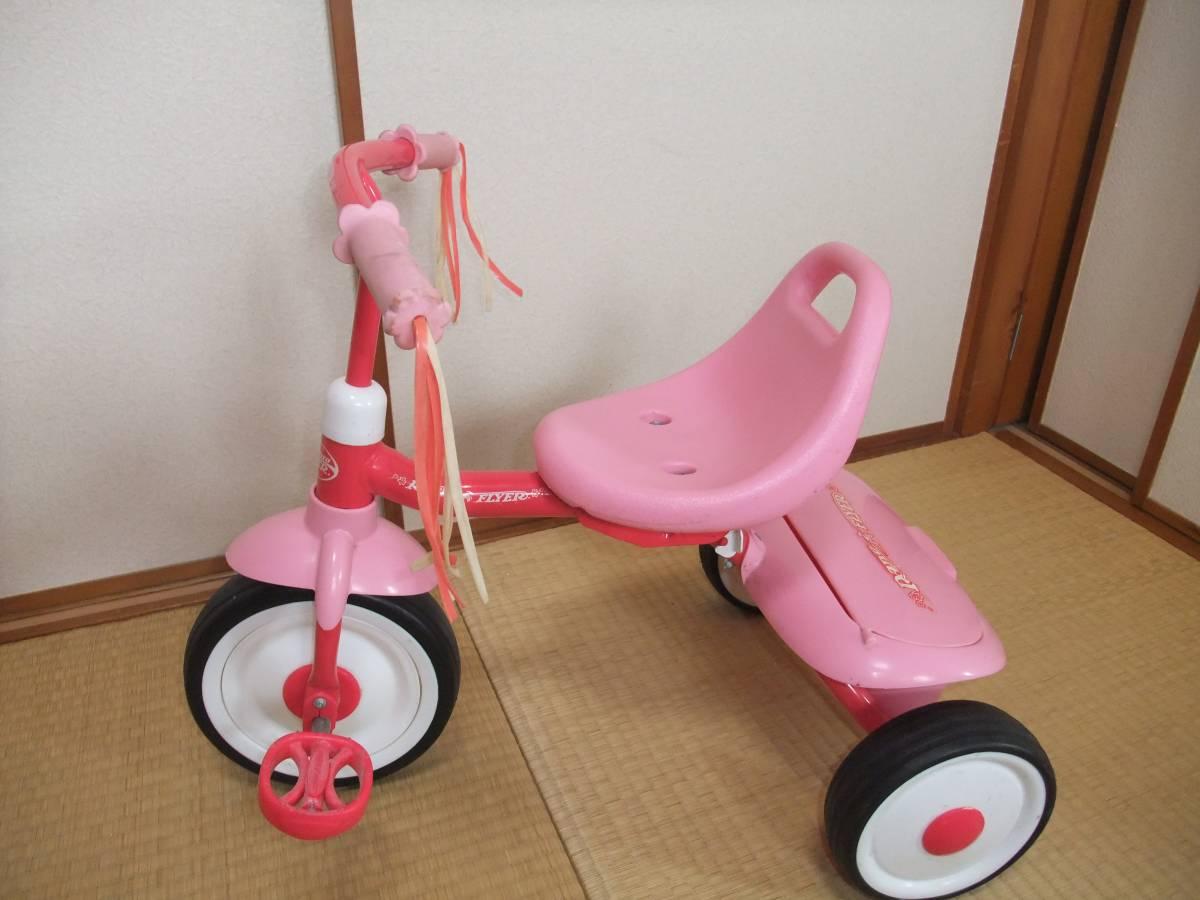 Radio Flyer PINK TRIKEラジオフライヤー 折りたたみ ピンク 三輪車 【1647】_画像5