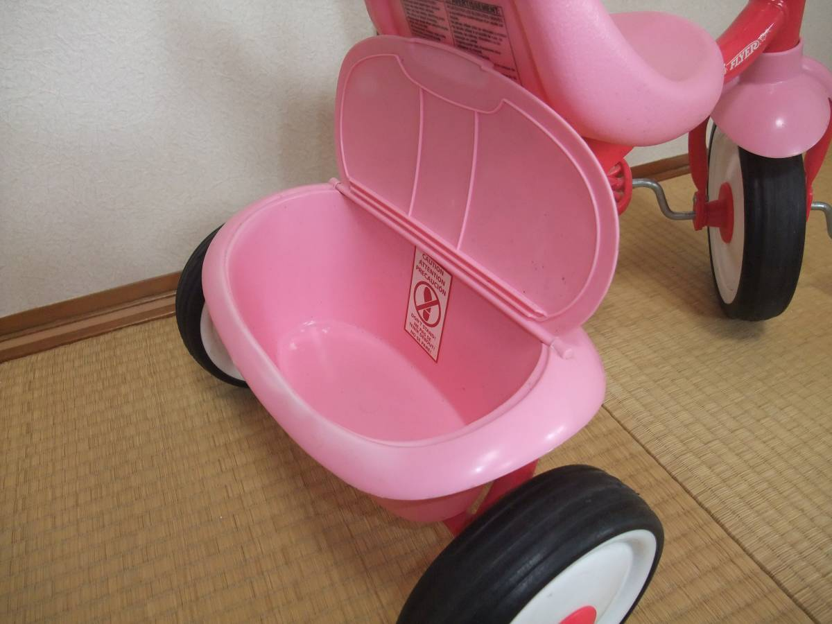 Radio Flyer PINK TRIKEラジオフライヤー 折りたたみ ピンク 三輪車 【1647】_画像4