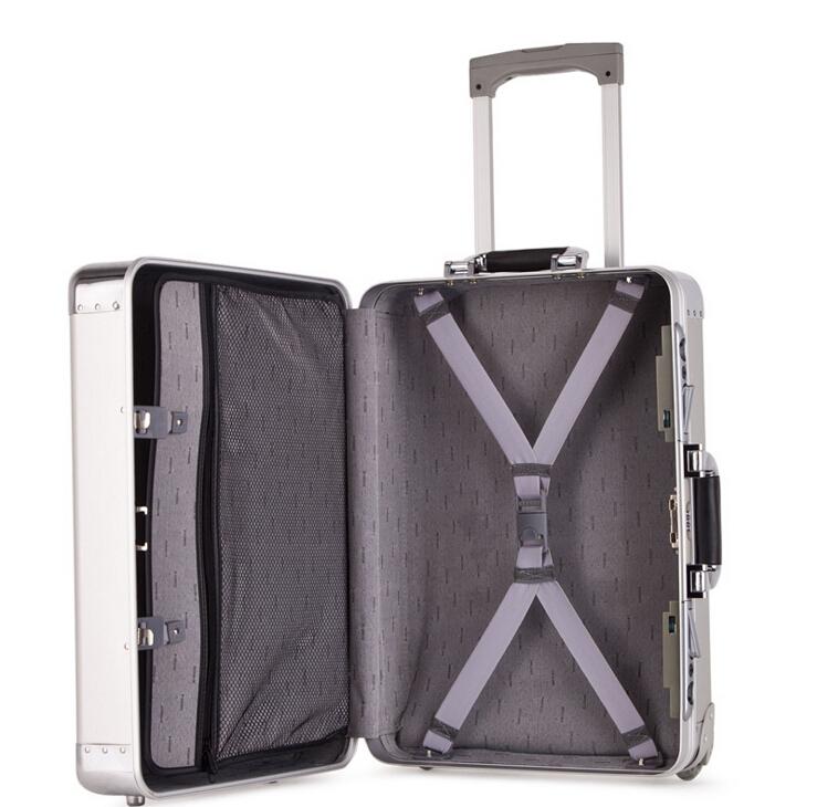 アルミスーツケース トランク キャリーバッグ 金属製スーツケース_画像4