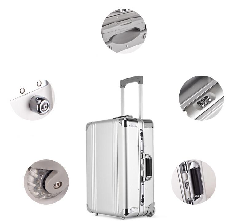 アルミスーツケース トランク キャリーバッグ 金属製スーツケース_画像9