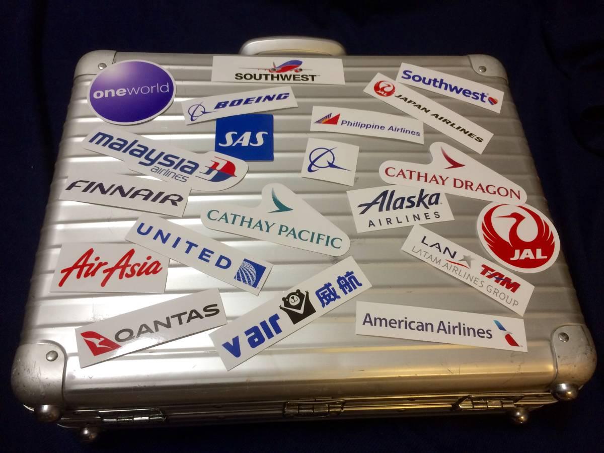 超お得!1枚@100円♪ RIMOWA ステッカー64枚★ ANA JAL STAR ALLIANCE oneworld 世界のエアライン 航空会社リモワ シール トパーズ サルサ_1セット目のステッカーです♪