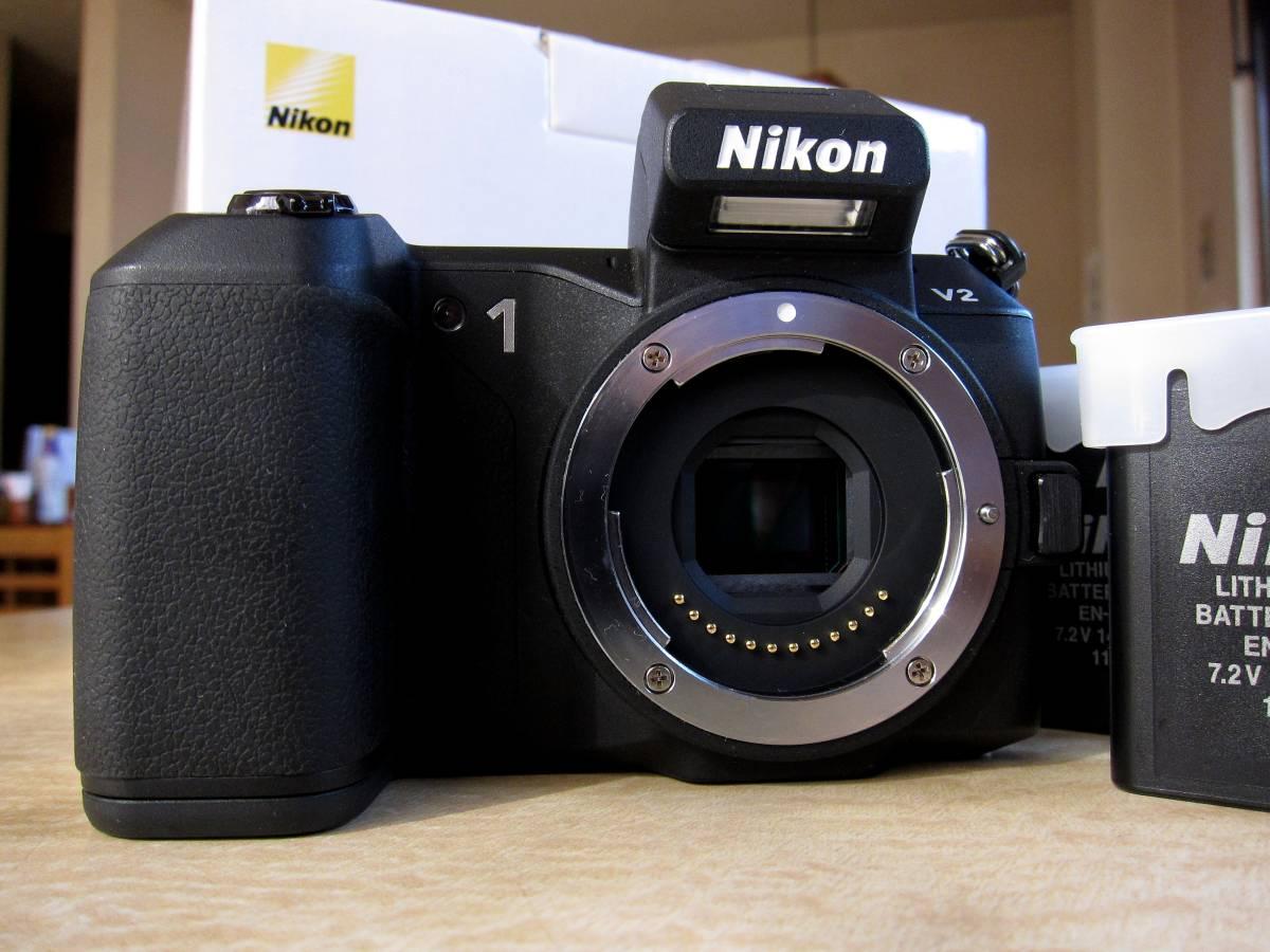 ☆☆☆1円スタート!ニコン Nikon ミラーレス一眼 Nikon 1 V2 ボディー ブラック おまけ☆☆☆