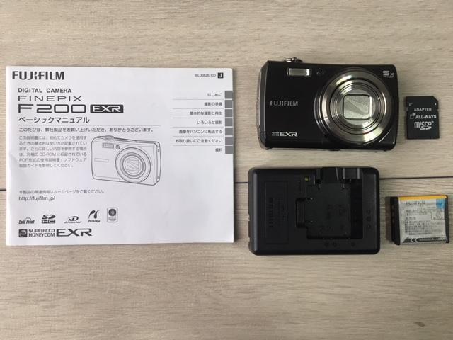 FUJIFILM FINEPIX F200 EXR F200EXR デジタルカメラ コンパクトデジタルカメラ デジカメ 中古品 中古カメラ 説明書付き SDカード付き