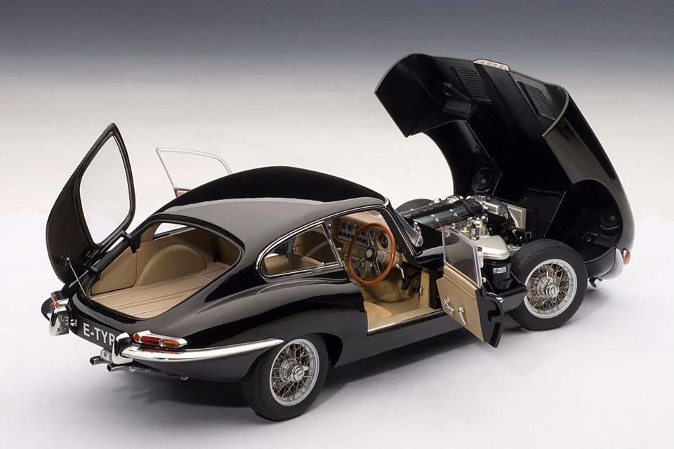 1/18 ジャガー Eタイプ シリーズⅠ 3.8 クーペ ブラック Jaguar E-type series1 3.8 coupe オートアート AUTOart_画像6