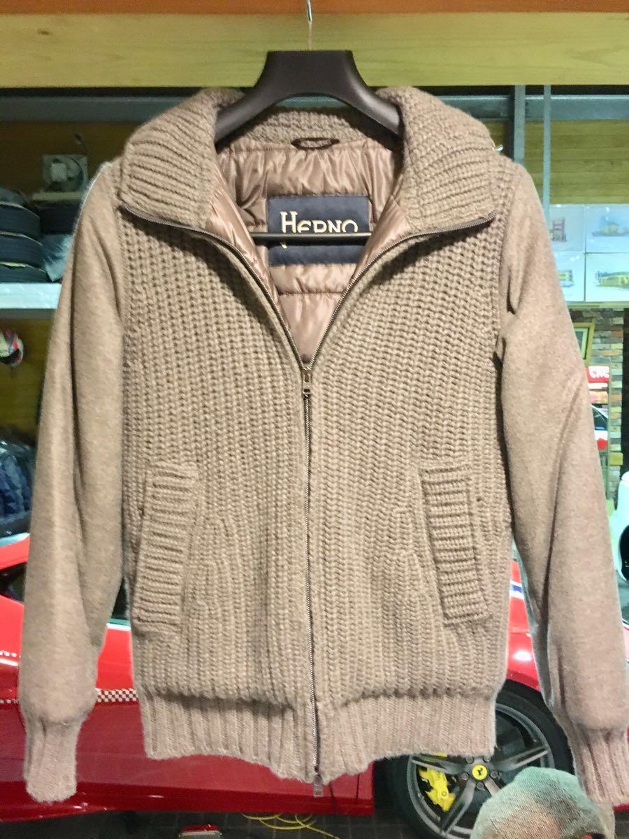 定価29万円 美品 ヘルノ カシミヤ シルク ダウン サイズ46