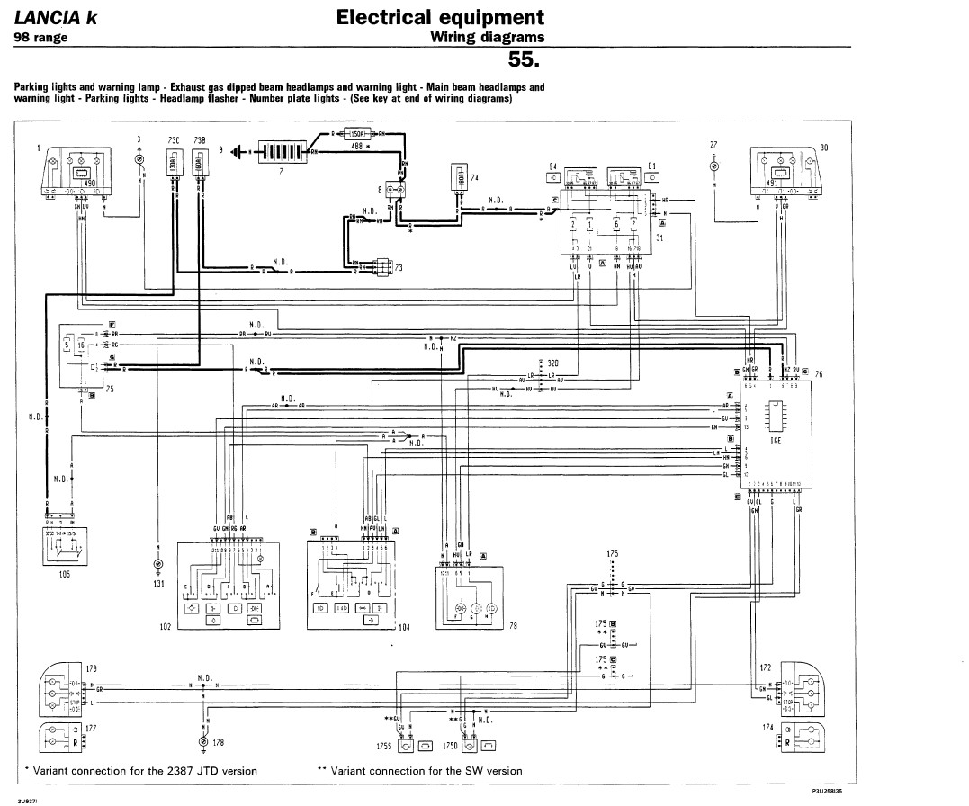 Workshop Wiring Diagram And Schematics Equipment Diagrams Lancia Kappa Work Shop Manual Maintenance English