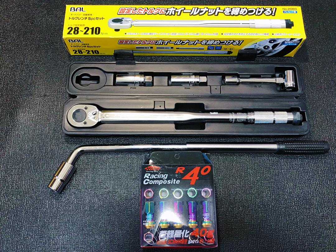 【送料無料】KYO-EI 超軽量レーシングナット&ロック R40 ネオクロ 12-1.5、トルクレンチ他、セットで売ります!