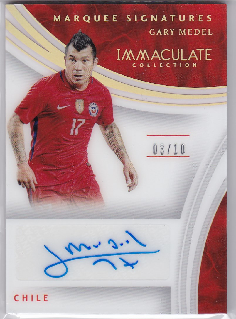 2017 PANINI IMMACULATE Gary Medel Marquee Sig Auto 直筆サインカード #03/10 10枚限定 チリ インテル グッズの画像