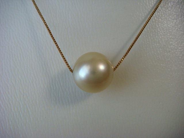 ◎南洋白蝶真珠 ネックレス 10,3mm K18製◎