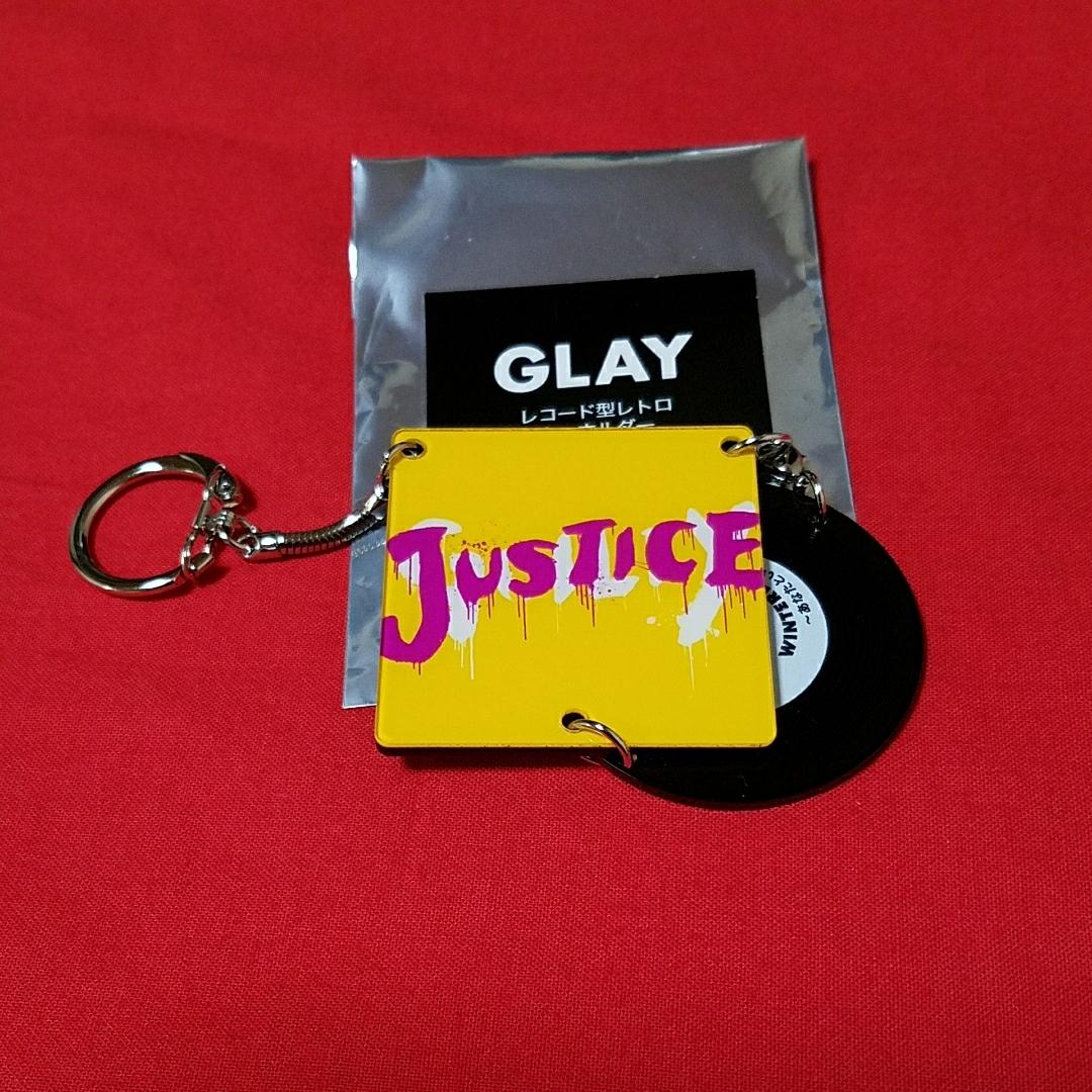 GLAY レコード型 レトロキーホルダー WINTERDELICS.EP ~あなたといきてゆく~ JUSTICE 新品