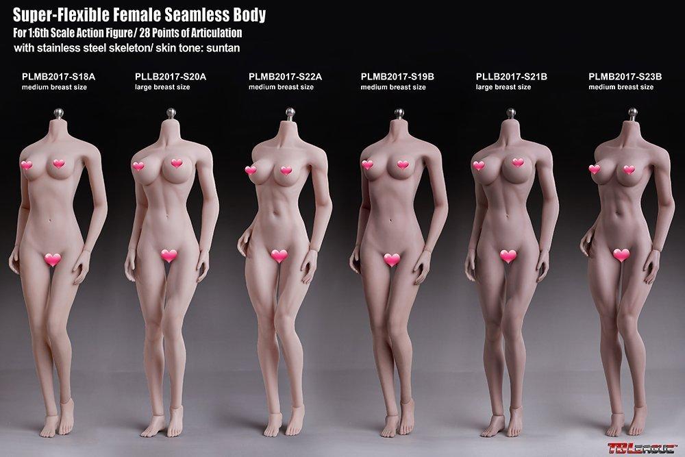 【新品】Phicen ファイセン 1/6 超柔軟性 シームレスボディ 白色肌 バストサイズM アジア系女性 PLMB2017-S18A 女性素体 TBLeague_画像6