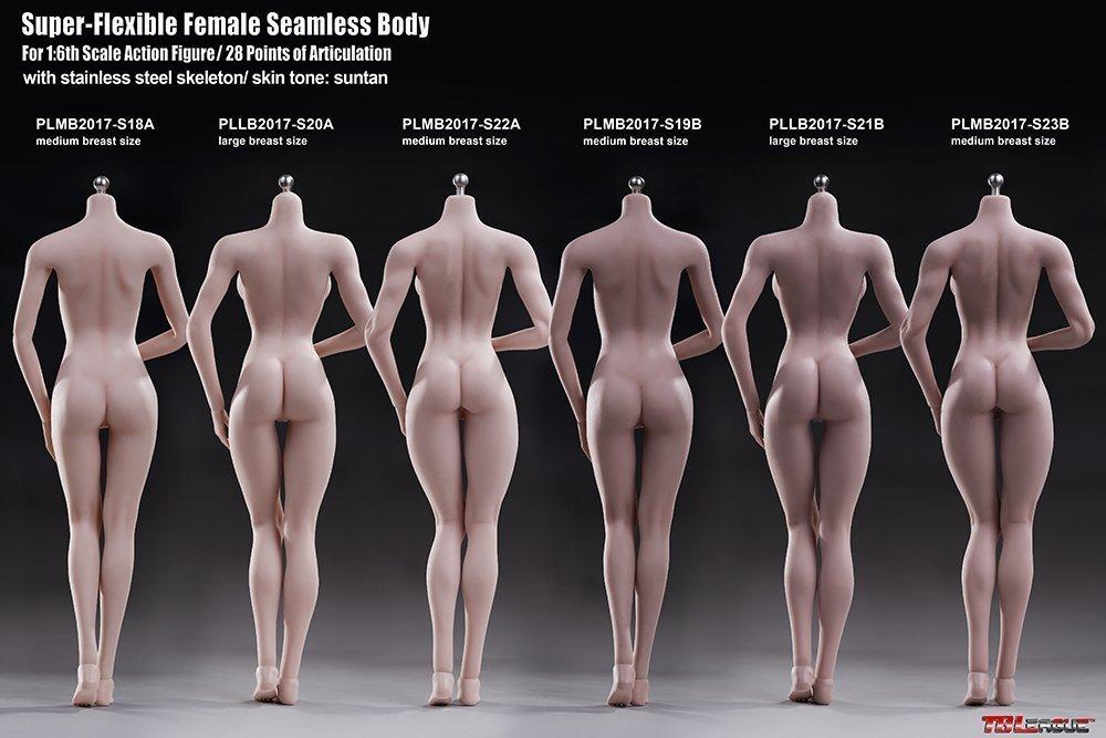 【新品】Phicen ファイセン 1/6 超柔軟性 シームレスボディ 白色肌 バストサイズM アジア系女性 PLMB2017-S18A 女性素体 TBLeague_画像8
