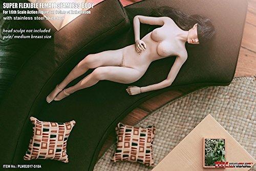 【新品】Phicen ファイセン 1/6 超柔軟性 シームレスボディ 白色肌 バストサイズM アジア系女性 PLMB2017-S18A 女性素体 TBLeague_画像2