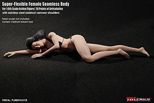 【新品】Phicen ファイセン 1/6 超柔軟性 シームレスボディ サンタン バストサイズM アジア系女性 PLMB2016-S17B 女性素体 TBLeague_画像6