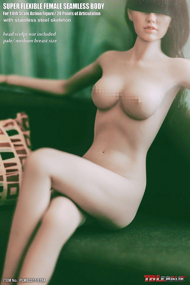 【新品】Phicen ファイセン 1/6 超柔軟性 シームレスボディ 白色肌 バストサイズM アジア系女性 PLMB2017-S18A 女性素体 TBLeague_画像5