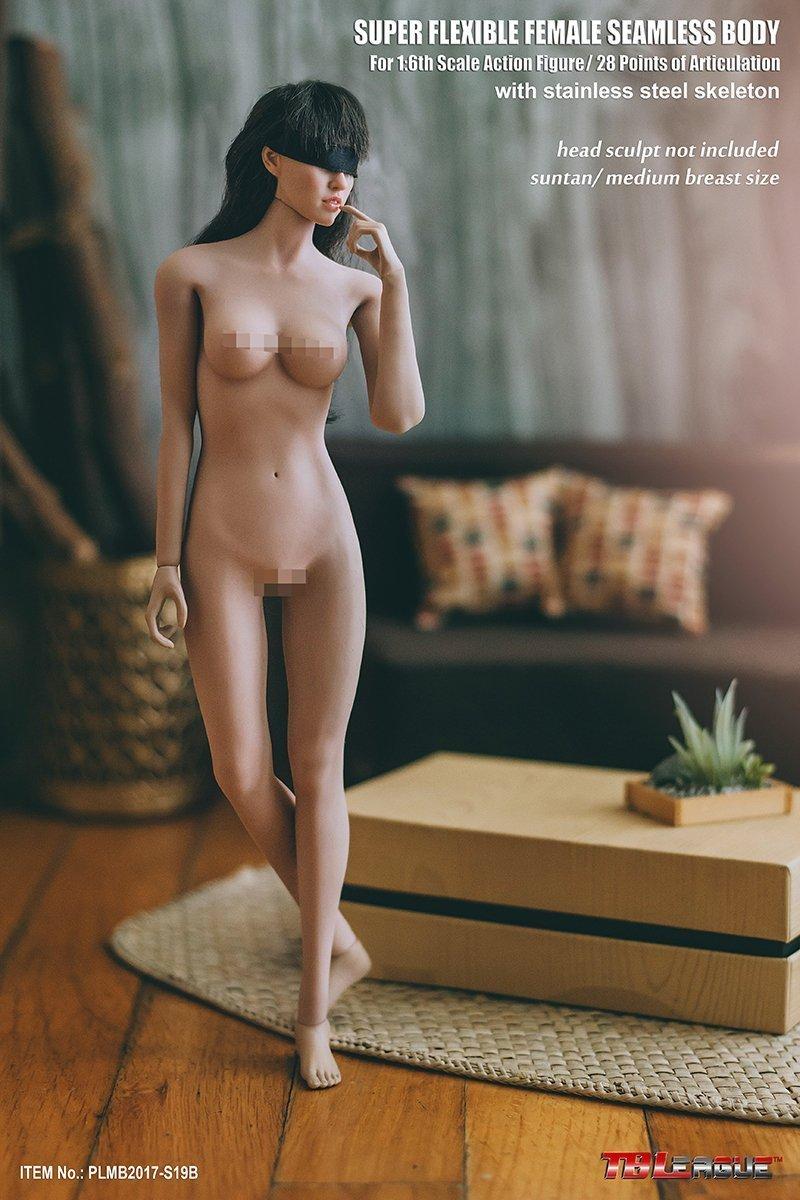 【新品】Phicen ファイセン 1/6 超柔軟性 シームレスボディ 小麦肌 サンタンシリーズ バストサイズM PLMB2017-S19B 女性素体 TBLeague_画像1