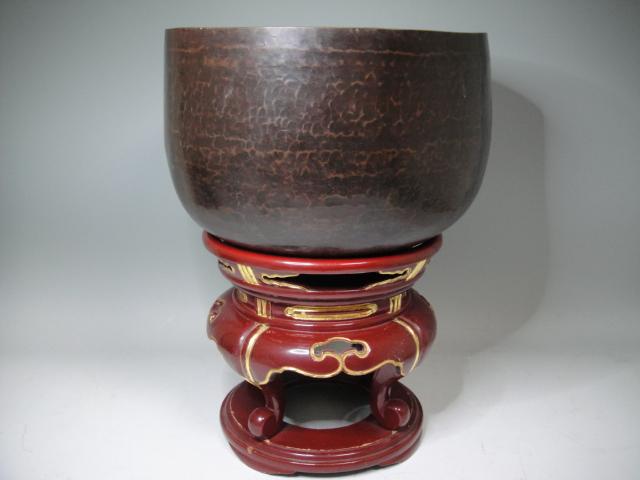 寺院仏具 特大 銅製御鈴 銘金龍子 重量約4,9㎏
