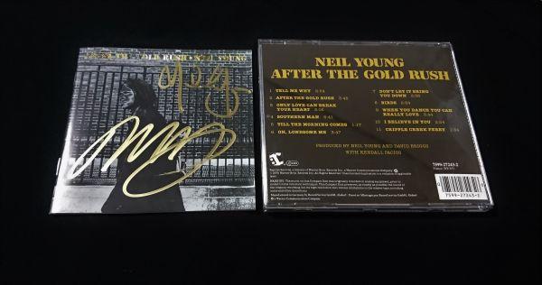 送料無料 ニール・ヤング ニルス・ロフグレン 直筆サイン CD Neil Young
