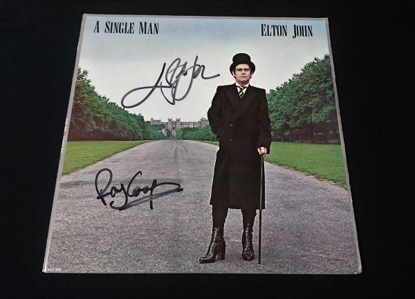 送料無料 エルトン・ジョン Elton John 直筆サイン LP レコード