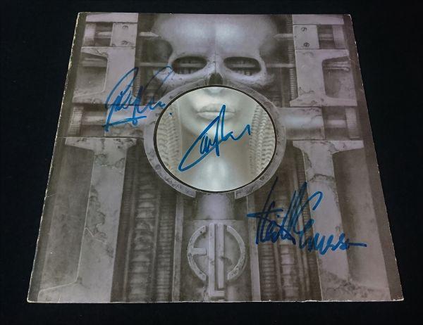 送料無料 エマーソン・レイク・アンド・パーマー Emerson, Lake & Palmer 直筆サイン レコード