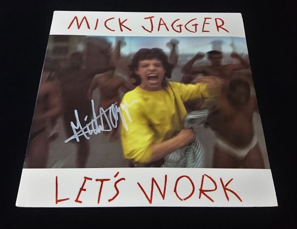 送料無料 ミック・ジャガー Mick Jagger 直筆サイン レコード