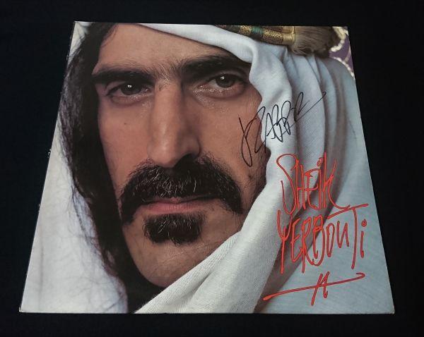 送料無料 フランク・ザッパ Frank Zappa 直筆サイン レコード