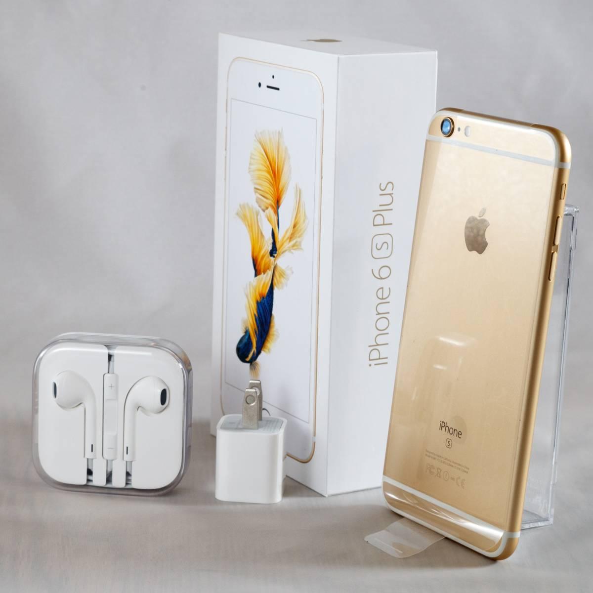 【新品交換品】SIMフリー iPhone6s plus 64GB ゴールド【Appleケア2018年8月まで】