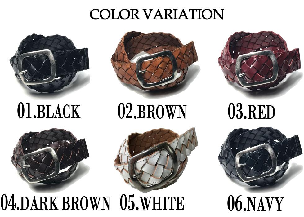 新品 レザー メッシュベルト 本革 40mm 濃紺 カジュアル メンズ レディース シンプル GTC003NV_画像6