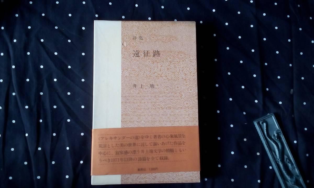 詩集 遠征路 井上靖 集英社 昭和51年初版_画像1